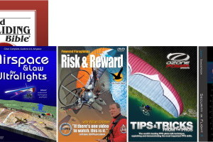 1. Powered Paragliding Bible 2. Airspace & Law for Ultralights 3. Risk & Reward 4. Tips & Tricks 5. Security In Flight